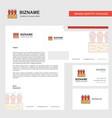 carrots farm business letterhead envelope and vector image vector image
