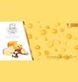 cartoon fresh cheese background