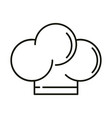 chef hat outline vector image vector image