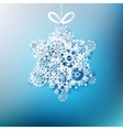Christmas star made from snowflakes EPS 10 vector image