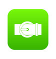 circle belt buckle icon digital green vector image