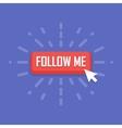concept follow me button vector image vector image