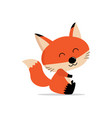 cute fox cartoon concept vector image