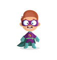 cute funny boy character in colorful superhero vector image