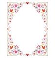 decorative cute hearts frame vector image vector image