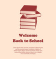 design template for back to school vector image