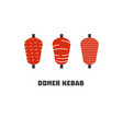 doner kebab icon set vector image vector image