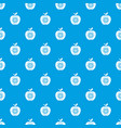 eco apple pattern seamless blue vector image vector image