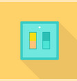 electric light switch icon flat style vector image