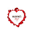 elegant background valentine s day vector image vector image