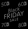 Elegant words Black Friday wear sale tags Isolated vector image vector image