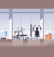 empty no people sport gym interior workout vector image