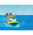 Extreme watercraft vector image vector image
