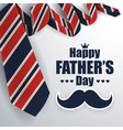 fathers day greeting card background vector image