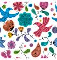 Floral Doodles Pattern vector image