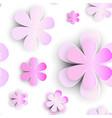 flowers seamless pattern element paper cut florar vector image