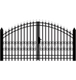 gate silhouette vector image vector image