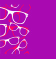 glasses seamless pattern retro hipster sunglasses vector image