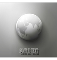 gray globe element for design vector image