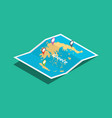 greece explore maps with isometric style and pin vector image