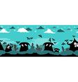 Halloween Horror Scene vector image