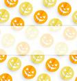 halloween pattern design vector image