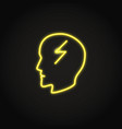 headache concept icon in glowing neon style vector image