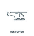 helicopter icon outline thin line style from vector image vector image