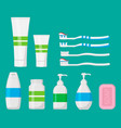hygiene cleaning set isolated on white background vector image vector image
