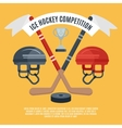 Ice hockey competition flat poster vector image vector image