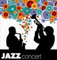 jazz musicians background vector image vector image