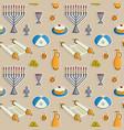 jewish holiday hanukkah seamless pattern vector image