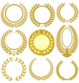 Laurel wreath set vector | Price: 1 Credit (USD $1)