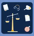 law and order symbols set vector image vector image