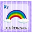Letter R vector image