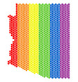 lgbt spectrum dot arizona state map vector image