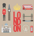 london travel info graphic vector image vector image