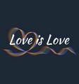 love is love poster pride lgbt symbol vector image vector image