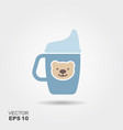mug drinker for a child vector image