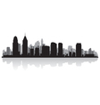 Philadelphia USA city skyline silhouette vector image vector image