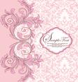 pink damask background vector image