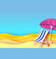 pink parasol - umbrella in paper cut style blue vector image vector image