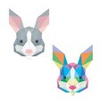 rabbit bunny head with polygonal geometric style vector image