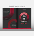 red abstract circle annual report brochure design vector image