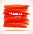 Red Marker Stain vector image vector image