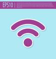 retro purple wi-fi wireless internet network vector image vector image