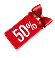 sale percent price tags with isolated white vector image