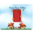 six times tables fairy theme vector image vector image