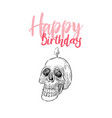 skull head hand draw sketch vector image