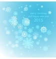 Snowflakes winter blue background snow decoration vector image
